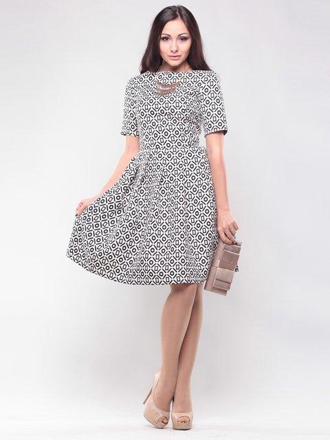 Платье черно-белое в принт Maurini 1438923