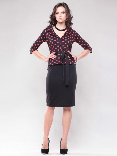 Сукня чорно-червона Maurini 1438950