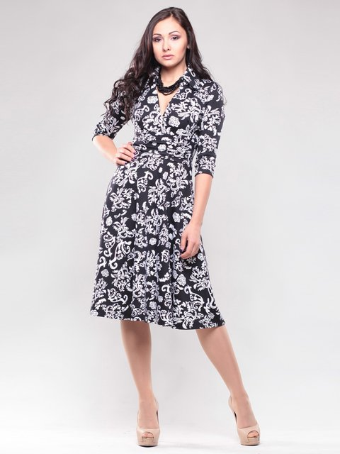 Сукня чорна в принт Maurini 1438998