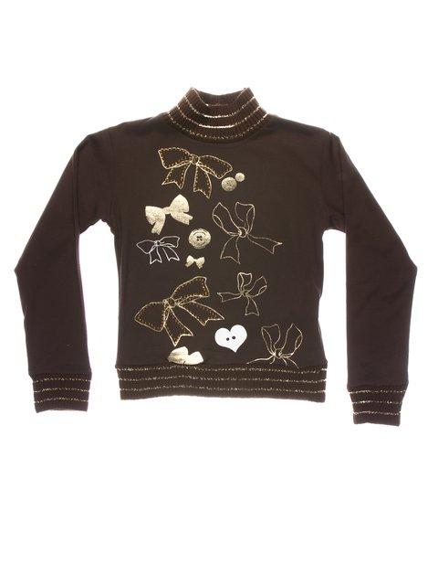 Гольф коричневий з принтами Perla Girls 1457423