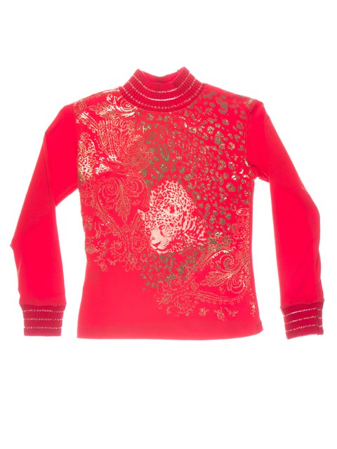 Гольф красный с принтом Perla Girls 1457419