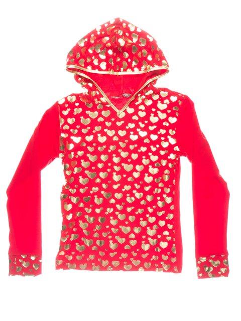 Худі червона в принт Perla Girls 1457412