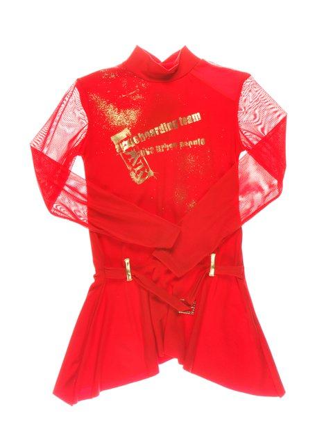 Туніка червона з принтом CHELA 1457474