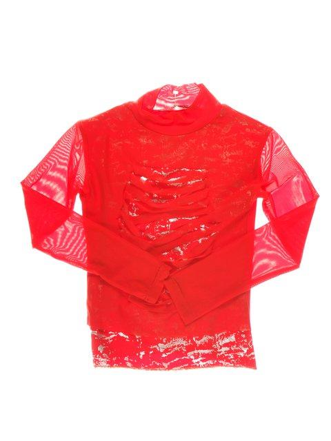 Гольф красный с принтами Perla Girls 1457432