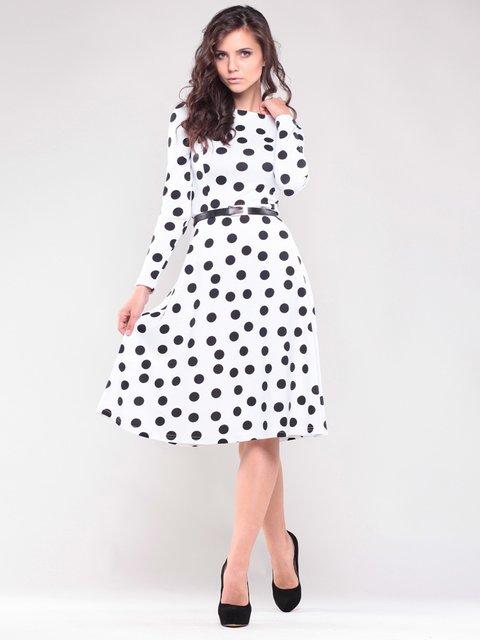 Сукня біла в горох Maurini 1506378