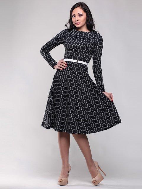Платье черно-белое Maurini 1512786