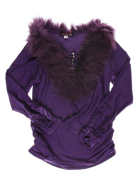 Блуза фіолетова з хутряним коміром MEGGIE BOBO 1523945