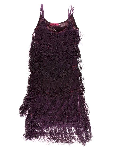Сукня фіолетова з бахромою JIUBABA 1523929