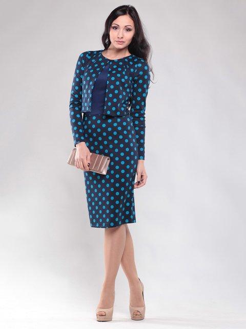 Платье темно-синее в горох Dioni 1530750