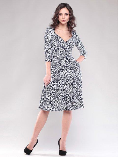 Платье черно-белое в принт Maurini 1545303