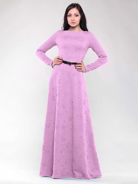 Платье сиреневое в цветочный рисунок Rebecca Tatti 1549990