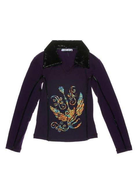 Туника темно-фиолетовая с принтом CHELA 1547614