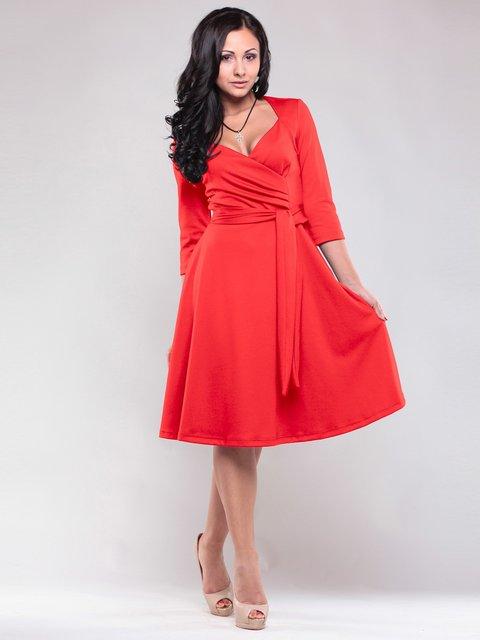 Платье насыщенно-красного цвета Maurini 1557741