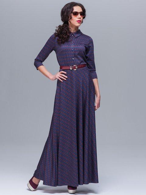 Платье синее в принт Jet 1571027