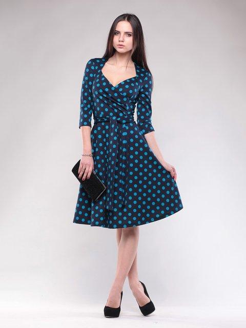 Сукня темно-синя в горох Maurini 1574523