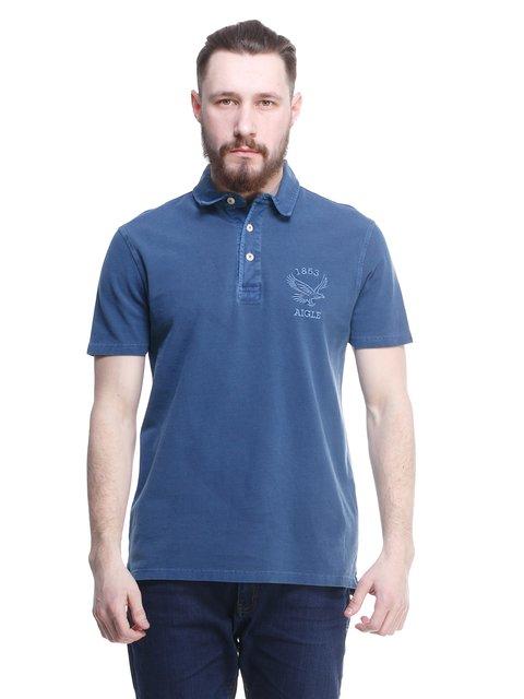 Футболка-поло синя Aigle 1577482