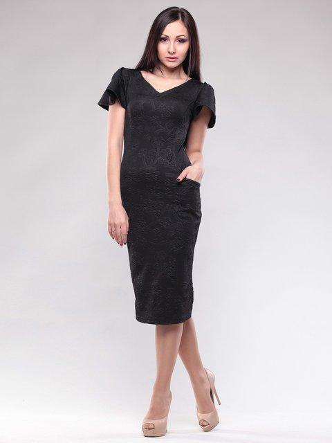 Платье черное в рисунок Rebecca Tatti 1589941