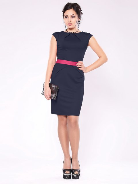Платье темно-синее Rebecca Tatti 1593208
