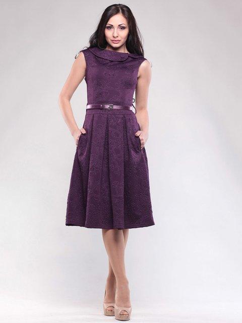 Платье фиолетовое в цветочный рисунок Rebecca Tatti 1599821