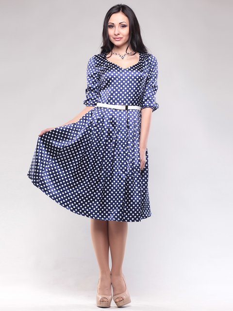 Сукня темно-синя в горох Rebecca Tatti 1608599