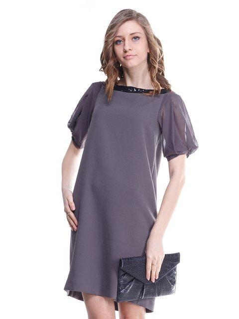 Платье серое Stefanel 1615500