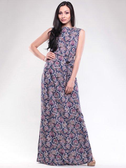 Платье синее в принт Dioni 1619645