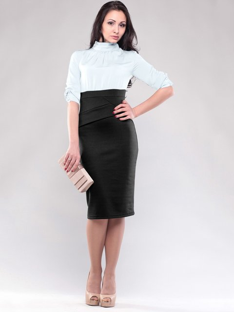 Платье бело-черное Maurini 1634763