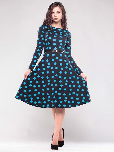 Платье черное в горох Maurini 1717012
