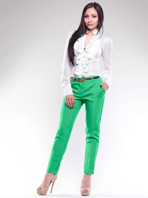 Брюки зеленые Laura Bettini 1724874