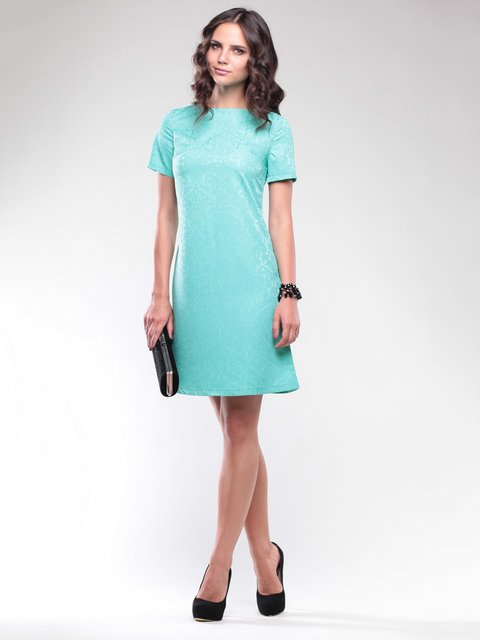 Платье бирюзовое в узор Laura Bettini 1734362