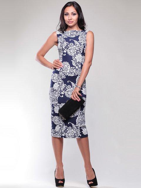 Сукня синьо-біла в принт Rebecca Tatti 1741564