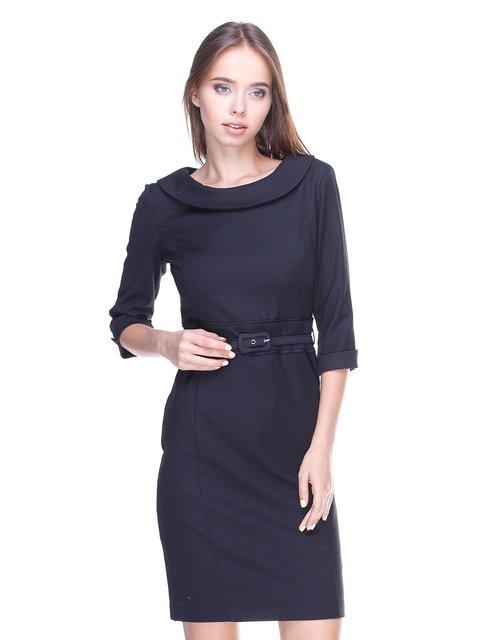 Платье черное комбинированное Fusion 1533176
