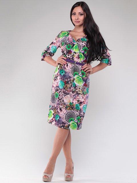 Платье разноцветное в принт Dioni 1783716