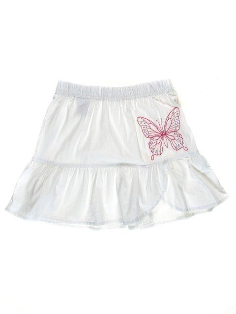 Юбка белая с декорированной вышивкой Gloria Jeans 1788499