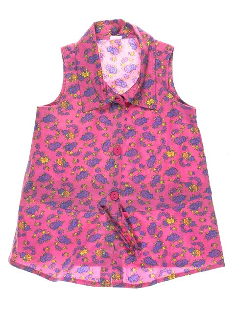 Блуза розовая в цветочный принт Gloria Jeans 1788320