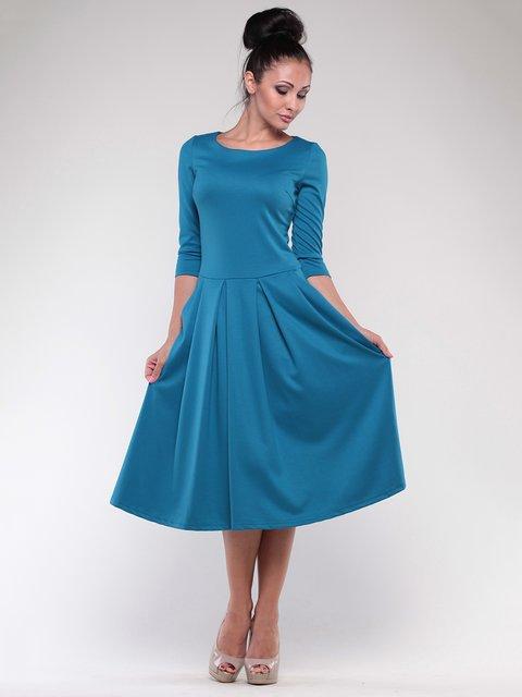 Платье темно-бирюзового цвета Maurini 1801200