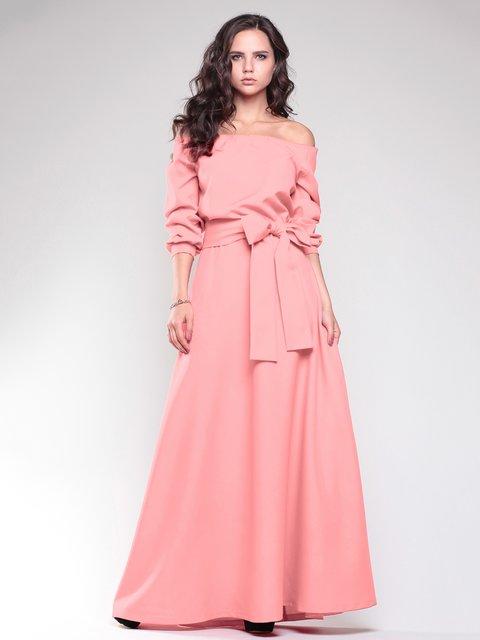 Платье темно-персикового цвета Rebecca Tatti 1787426