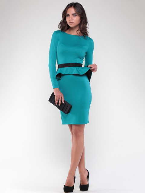 Платье изумрудно-черного цвета Laura Bettini 1815676