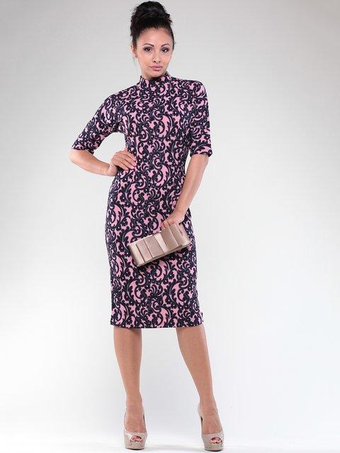 Платье черно-розовое в принт Dioni 1822764
