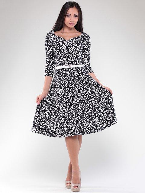 Платье бело-черное в принт Dioni 1822771