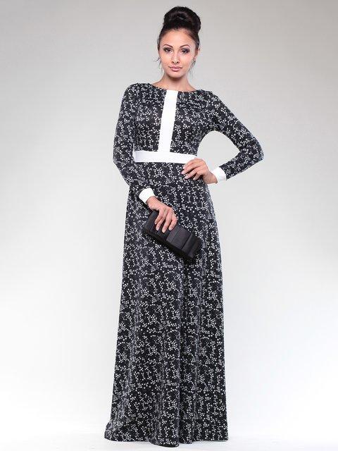 Сукня чорно-біла в принт Maurini 1832294