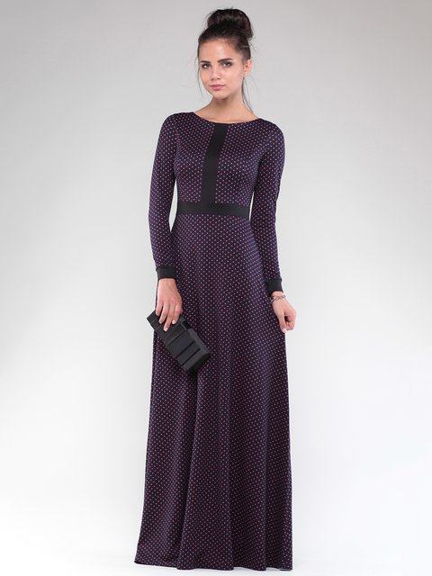 Платье черное в горох Maurini 1832295