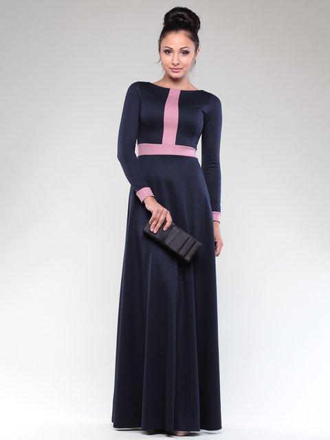 Платье темно-синее с контрастной отделкой Maurini 1832297