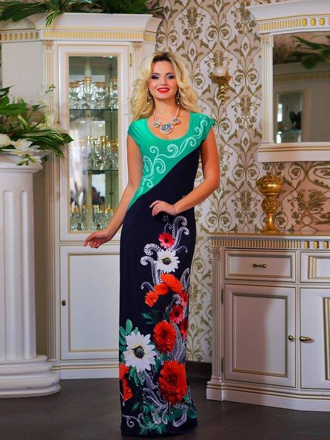 Сукня двоколірна з квітковим принтом Seventeen 1833759