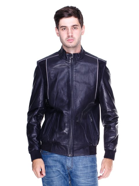 Куртка темно-синяя с контрастной отделкой Gessada 1833610