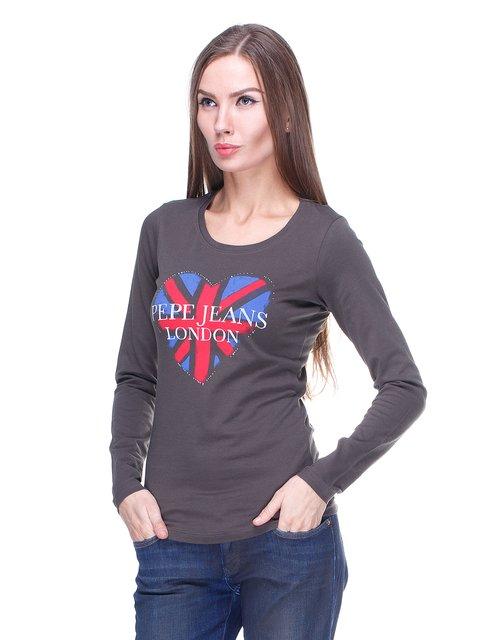Лонгслив цвета хаки с принтом Pepe Jeans 1443443