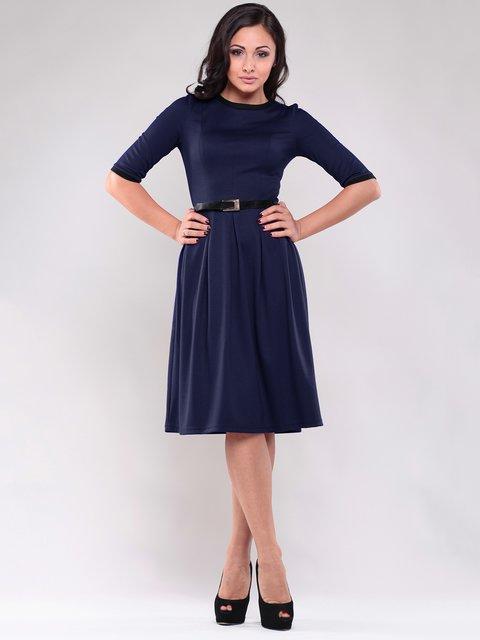 Платье синее с контрастной отделкой Maurini 1838252