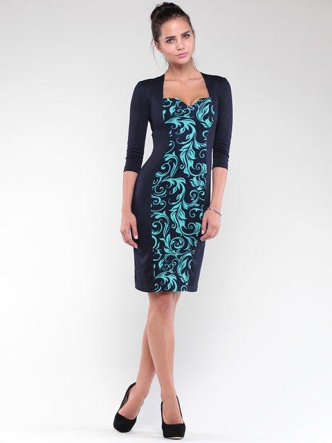 Сукня синя з принтом Dioni 1842221