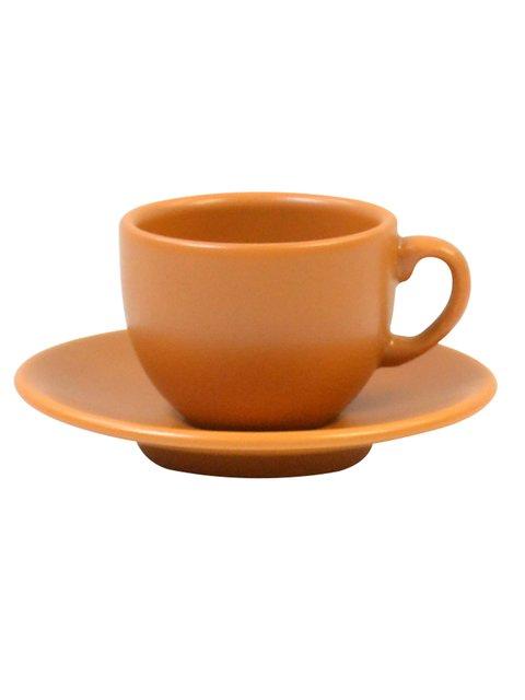 Чашка (95 мл) з блюдцем кавова Keramia 1849512