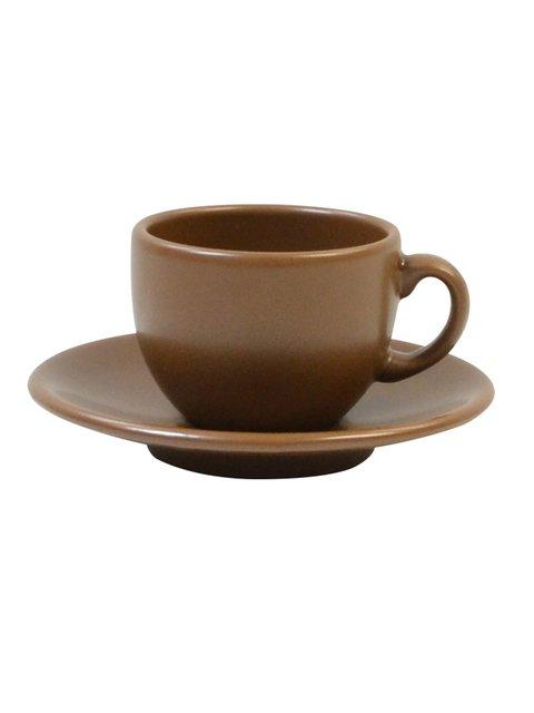 Чашка (95 мл) з блюдцем кавова Keramia 1849525